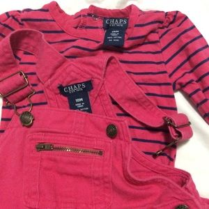 Chaps two piece overall dress